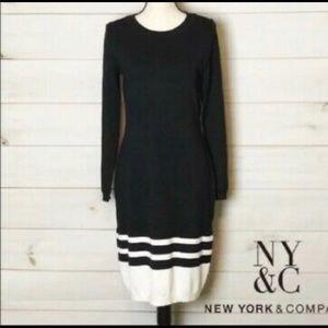 Black midi sweater dress